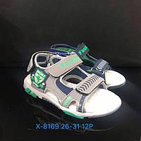 Детские сандалии на липучках для мальчиков оптом Размеры 26-31 микс