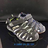 Детские закрытые сандалии на липучках для мальчиков оптом Размеры 25-30 микс