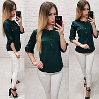 282fd8327b4 Блуза   блузка арт. 829 бутылочный   темно зеленый