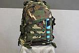 Тактический (военный) рюкзак Raid с системой M.O.L.L.E Woodland (601-woodland), фото 5