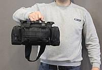 Тактическая универсальная (поясная, наплечная) сумка с системой M.O.L.L.E Black (104 черная), фото 1