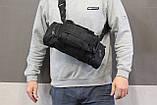 Тактическая универсальная (поясная, наплечная) сумка с системой M.O.L.L.E Black (104 черная), фото 2
