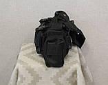 Тактическая универсальная (поясная, наплечная) сумка с системой M.O.L.L.E Black (104 черная), фото 4