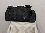 Тактическая универсальная (поясная, наплечная) сумка с системой M.O.L.L.E Black (104 черная), фото 5