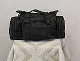 Тактическая универсальная (поясная, наплечная) сумка с системой M.O.L.L.E Black (104 черная), фото 6