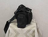 Тактическая универсальная (поясная, наплечная) сумка с системой M.O.L.L.E Black (104 черная), фото 7