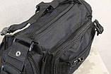 Тактическая универсальная (поясная, наплечная) сумка с системой M.O.L.L.E Black (104 черная), фото 8