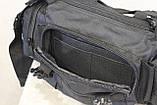 Тактическая универсальная (поясная, наплечная) сумка с системой M.O.L.L.E Black (104 черная), фото 9