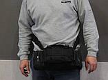 Тактическая универсальная (поясная, наплечная) сумка с системой M.O.L.L.E Black (104 черная), фото 10