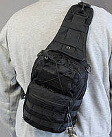 Тактическая - штурмовая универсальная сумка на 8-9 литров с системой M.O.L.L.E Черная (097-black)