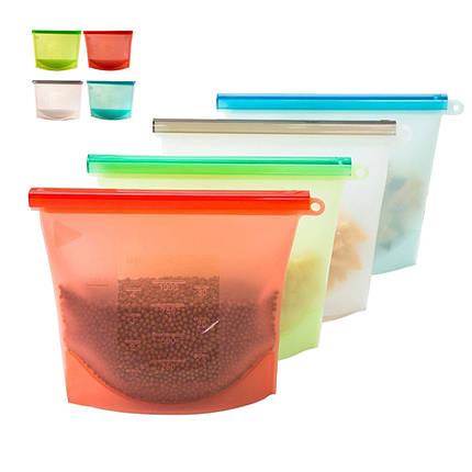 Многоразовые Силиконовый Продукты питания свежие Сумки Хранение Герметичные контейнеры для холодильника Кухня Вакуум Сумка - 1TopShop, фото 2