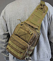 Тактическая - штурмовая универсальная сумка на 8-9 литров с системой M.O.L.L.E Олива (097-olive)