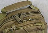 Тактическая - штурмовая универсальная сумка на 6-7 литров с системой M.O.L.L.E Олива (095-olive), фото 2