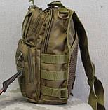 Тактическая - штурмовая универсальная сумка на 6-7 литров с системой M.O.L.L.E Олива (095-olive), фото 4