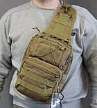 Тактическая - штурмовая универсальная сумка на 6-7 литров с системой M.O.L.L.E Олива (095-olive), фото 5