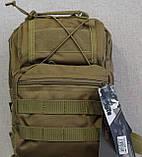 Тактическая - штурмовая универсальная сумка на 6-7 литров с системой M.O.L.L.E Олива (095-olive), фото 6