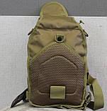 Тактическая - штурмовая универсальная сумка на 6-7 литров с системой M.O.L.L.E Олива (095-olive), фото 7