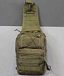 Тактическая - штурмовая универсальная сумка на 6-7 литров с системой M.O.L.L.E Олива (095-olive), фото 8