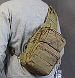 Тактическая - штурмовая универсальная сумка на 6-7 литров с системой M.O.L.L.E Олива (095-olive), фото 9