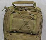 Тактическая - штурмовая универсальная сумка на 6-7 литров с системой M.O.L.L.E Олива (095-olive), фото 10