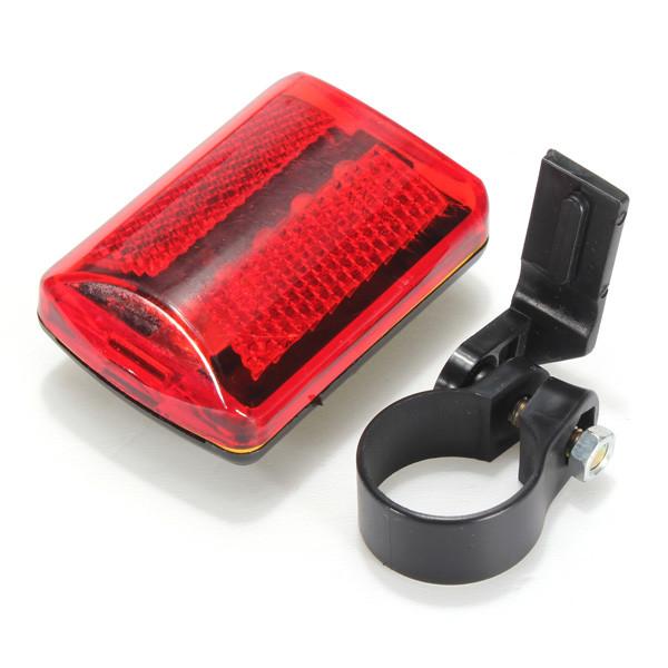 5 LED Велосипедная хвостовая фара света Велосипедный красный фонарик Задняя лампа 7 режимов - 1TopShop
