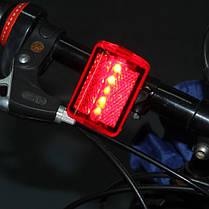 5 LED Велосипедная хвостовая фара света Велосипедный красный фонарик Задняя лампа 7 режимов - 1TopShop, фото 3