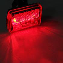 5 LED Велосипедная хвостовая фара света Велосипедный красный фонарик Задняя лампа 7 режимов - 1TopShop, фото 2