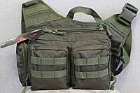 Тактическая - городская универсальная сумка с системой M.O.L.L.E Olive (855-olive)