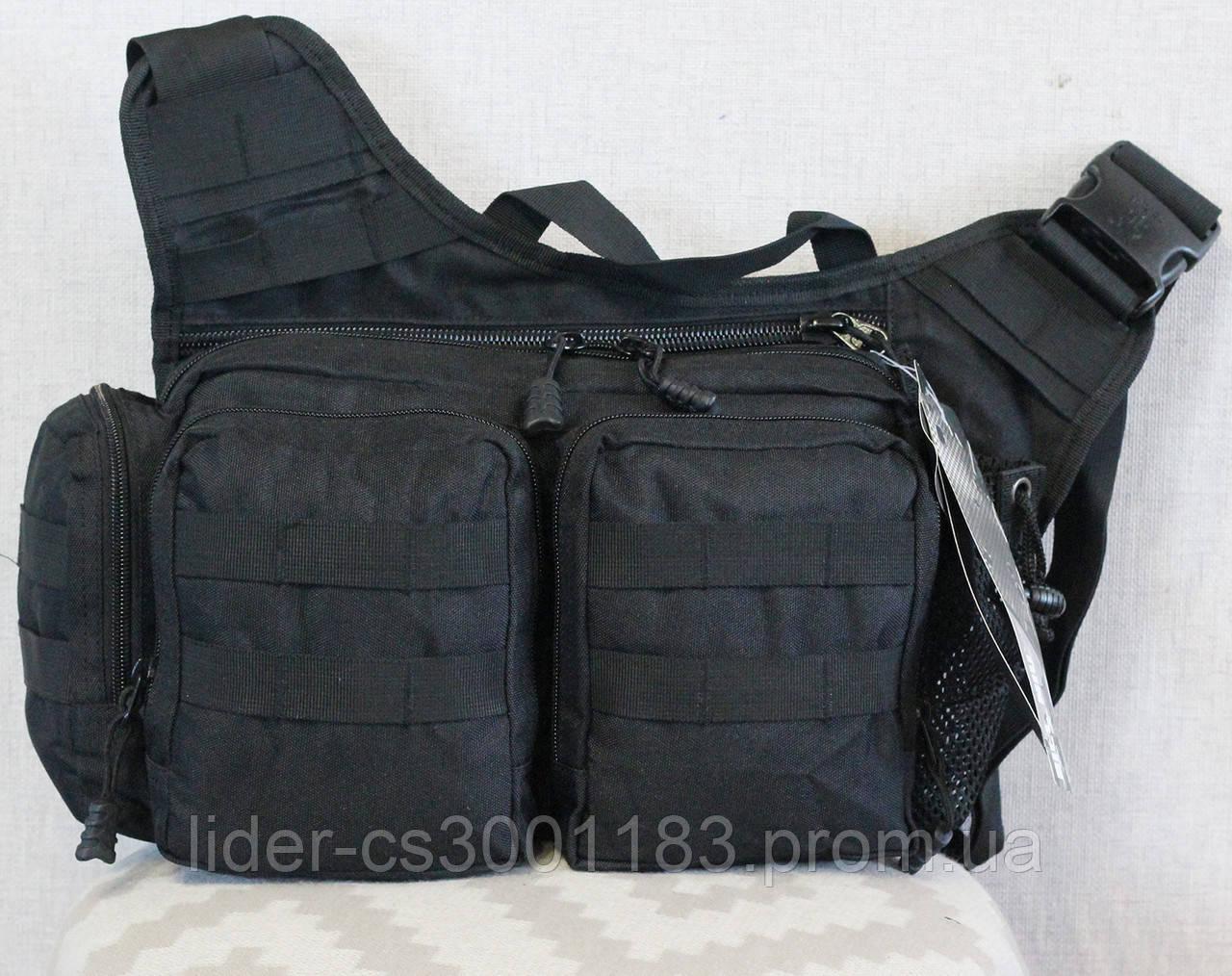 Тактическая - городская универсальная сумка Silver Knight с системой M.O.L.L.E Черный (855-black)