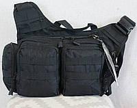 Тактическая - городская универсальная сумка Silver Knight с системой M.O.L.L.E Черный (855-black), фото 1