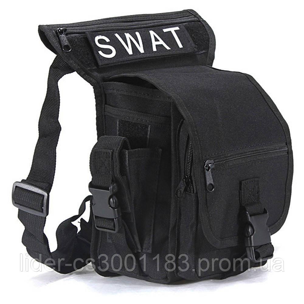 Тактическая универсальная (набедренная) сумка на бедро Swat black ( 300-black)