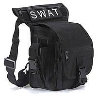 Тактическая универсальная (набедренная) сумка на бедро Swat black ( 300-black), фото 1