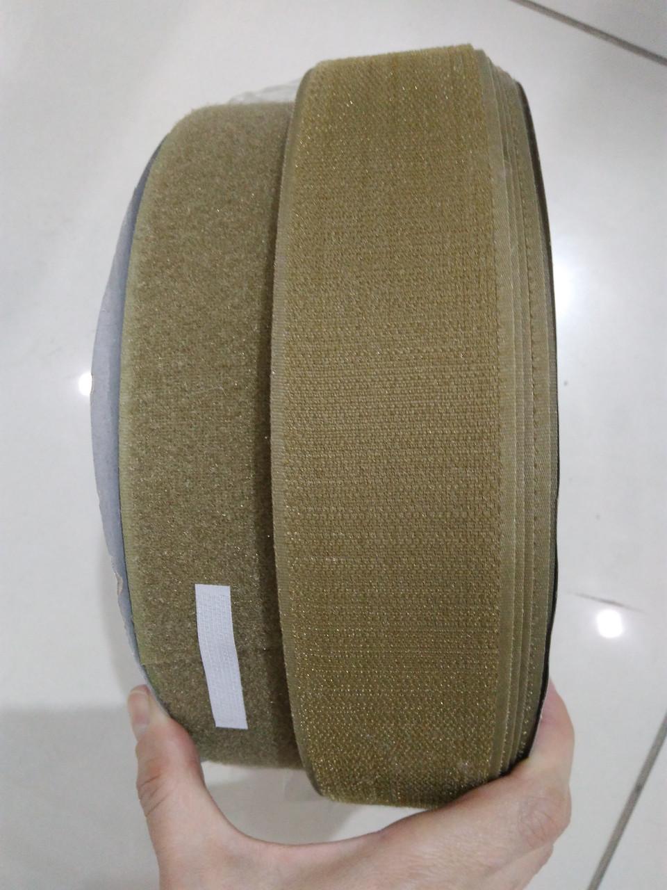 Текстильная застежка (липучка) цвет хаки S-367  50мм (боб 25м)  Veritas