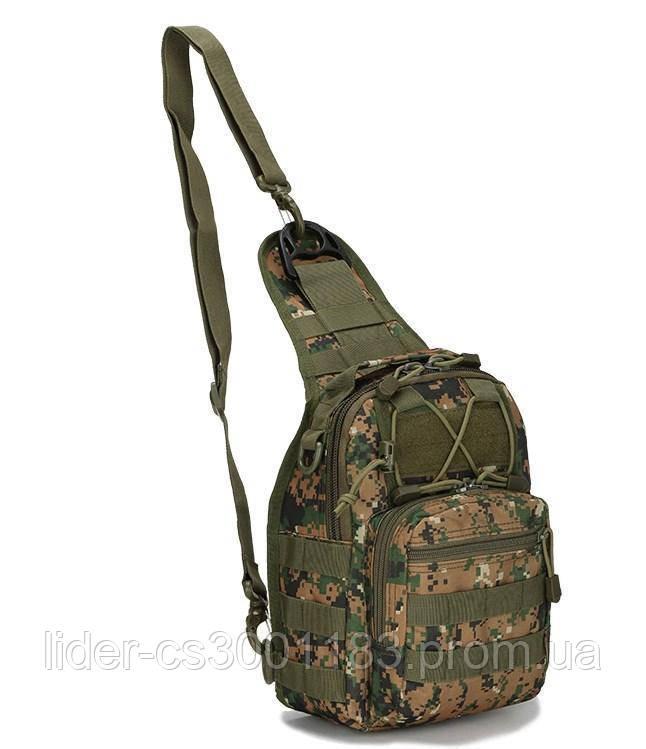 Тактическая - штурмовая универсальная сумка на 6-7 литров с системой M.O.L.L.E Dark pixel (095-dark-pixel)