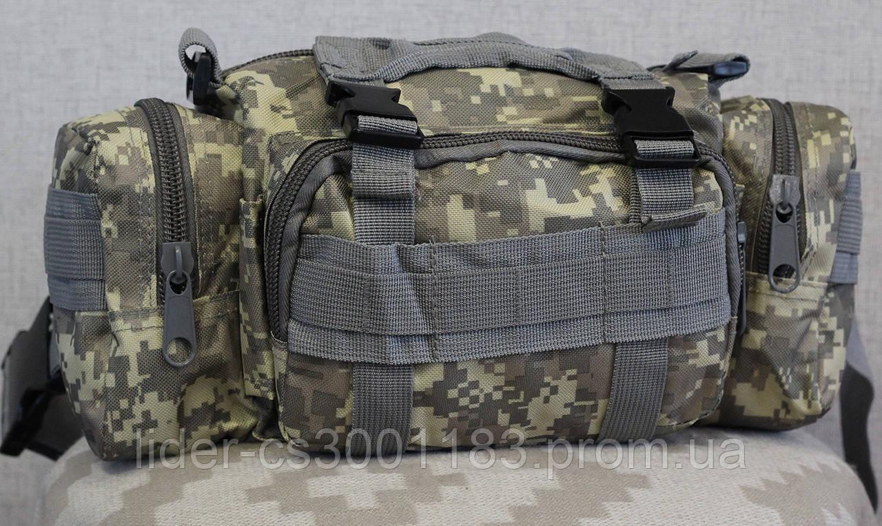 Тактическая универсальная (поясная, наплечная) сумка с системой M.O.L.L.E (104-pixel)