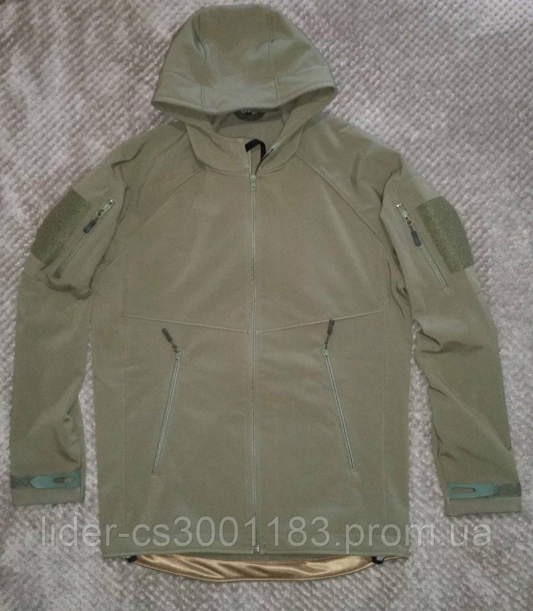 Тактическая куртка с капюшоном софтшелл SoftShell Olive