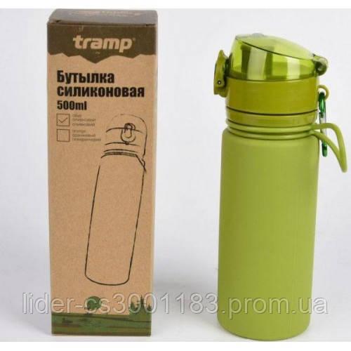 Бутылка силикон 500 мл оливковый Tramp TRC-093-olive