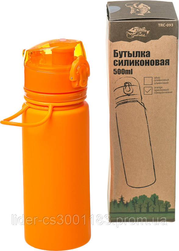 Бутылка силикон 500 мл оранжевый Tramp TRC-093-orange