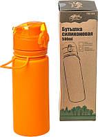 Бутылка силикон 500 мл оранжевый Tramp TRC-093-orange, фото 1