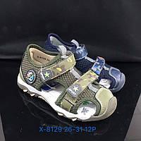 Детские закрытые сандалии с задником и на липучках для мальчиков оптом Размеры 26-31микс