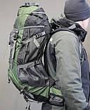 Туристический рюкзак North Face Extreme 60 литров (Оливковый), фото 2