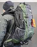 Туристический рюкзак North Face Extreme 60 литров (Оливковый), фото 5