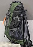 Туристический рюкзак North Face Extreme 60 литров (Оливковый), фото 6