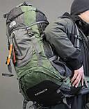 Туристический рюкзак North Face Extreme 60 литров (Оливковый), фото 8