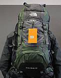 Туристический рюкзак North Face Extreme 60 литров (Оливковый), фото 9