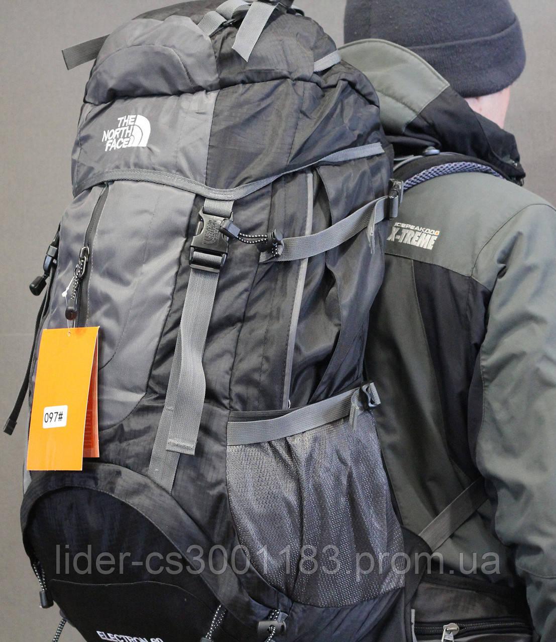 Туристический рюкзак North Face Extreme 60 литров (чёрный)