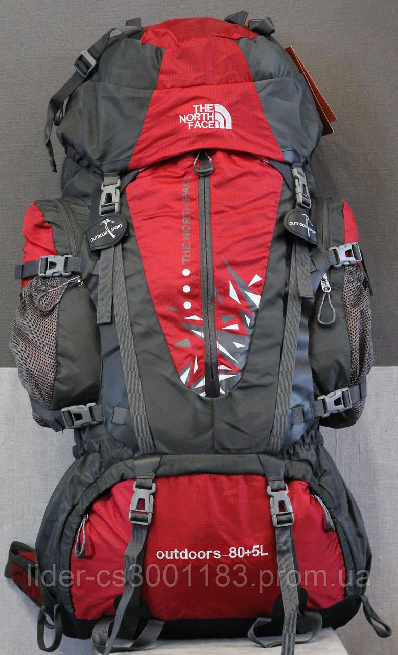 Туристический рюкзак North Face Extreme 80 + 5 литров (красный)