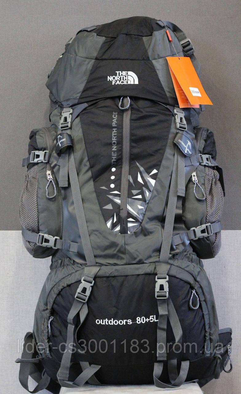 Туристический рюкзак North Face Extreme 80 + 5 литров (черный)