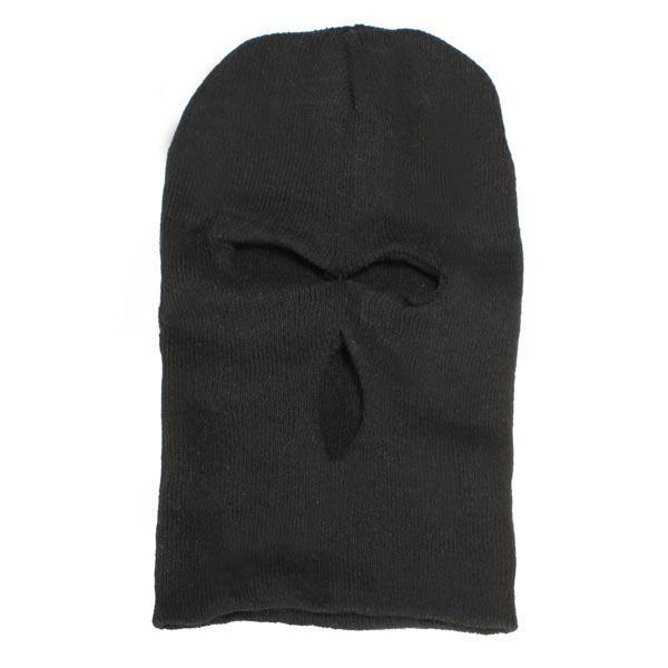 3 отверстия вязаная маска Балаклава Hat лыжный армии Cap шапочка капота - 1TopShop