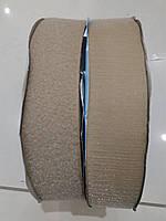 Текстильная застежка (липучка) цвет бежевый темный  S-007  50мм (боб 25м)  Veritas